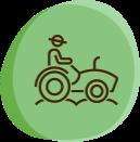 Pictogramme Gestionnaire de Haie / Agriculteur